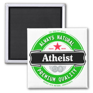 Natural Atheist 2 Inch Square Magnet
