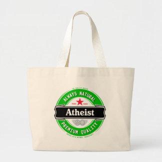 Natural Atheist Large Tote Bag