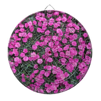 Natural background of purple carnation flowers dartboard