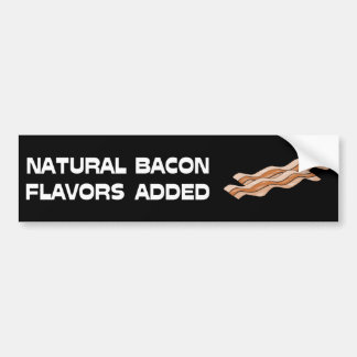 Natural Bacon Flavors Added Car Bumper Sticker