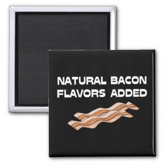 Natural Bacon Flavors Added 2 Inch Square Magnet