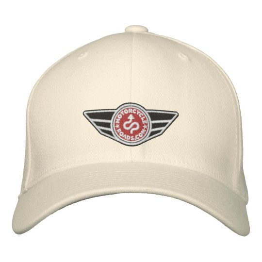 79802de47 Natural ball-cap with red embroidered MCR logo Embroidered Baseball Cap
