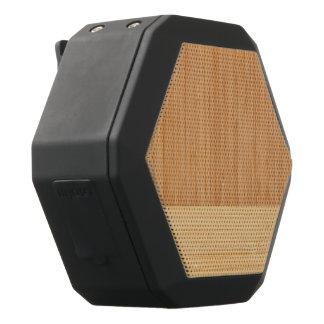 Natural Bamboo Border Wood Grain Look Black Bluetooth Speaker