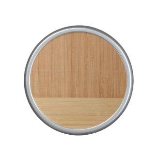 Natural Bamboo Border Wood Grain Look Bluetooth Speaker