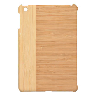 Natural Bamboo Border Wood Grain Look iPad Mini Cover