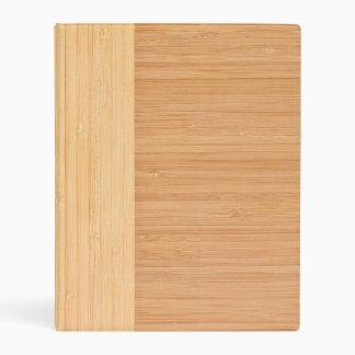 Natural Bamboo Border Wood Grain Look Mini Binder