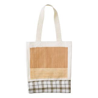 Natural Bamboo Border Wood Grain Look Zazzle HEART Tote Bag