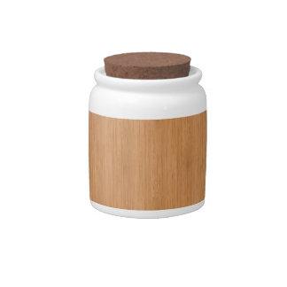 Natural Bamboo Look Candy Jars