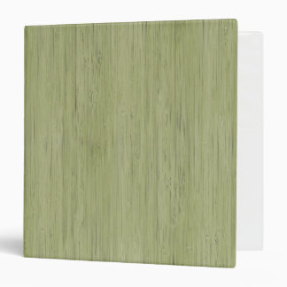 Natural Bamboo Look in Moss Green Binders