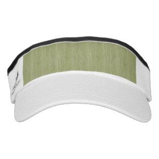 Natural Bamboo Look in Moss Green Headsweats Visors
