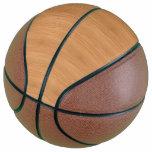 Natural Bamboo Wood Grain Look Basketball