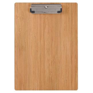 Natural Bamboo Wood Grain Look Clipboard