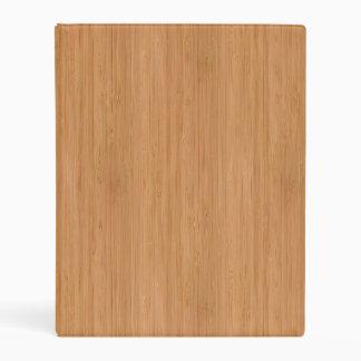 Natural Bamboo Wood Grain Look Mini Binder