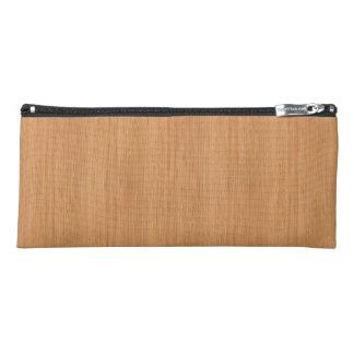 Natural Bamboo Wood Grain Look Pencil Case