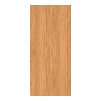 Natural Bamboo Wood Grain Look Rack Card