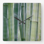 Natural Bamboo Zen Background Customized Template Wall Clock