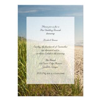Natural Beach Post Wedding Brunch Invitation