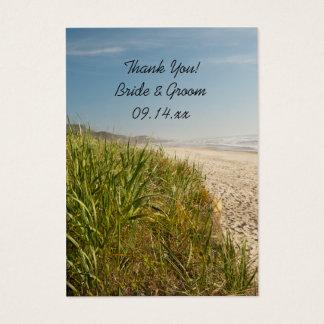 Natural Beach Wedding Thank You Favor Tags