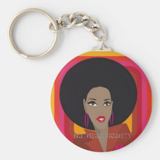 Natural Beauty Basic Round Button Keychain