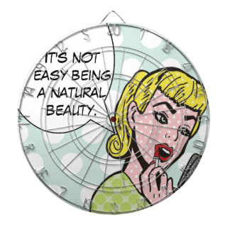 Natural Beauty Comic Book Dartboard