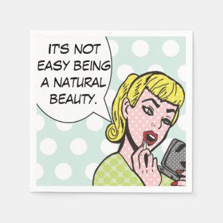 Natural Beauty Comic Book Napkins