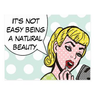 Natural Beauty Comic Book Postcard