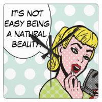 Natural Beauty Comic Book Wall Clock