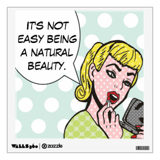 Natural Beauty Comic Book Wall Decal