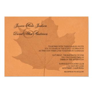 Natural Beauty Leaf Felt Wedding Invitation