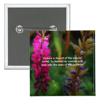 Natural Beauty Pinback Button