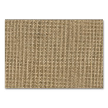 Beach Themed Natural Beige Tan Jute Burlap-Rustic Cabin Wedding Card