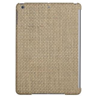 Natural Beige Tan Jute Burlap-Rustic Cabin Wedding iPad Air Case