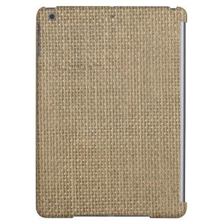 Natural Beige Tan Jute Burlap-Rustic Cabin Wedding iPad Air Cases