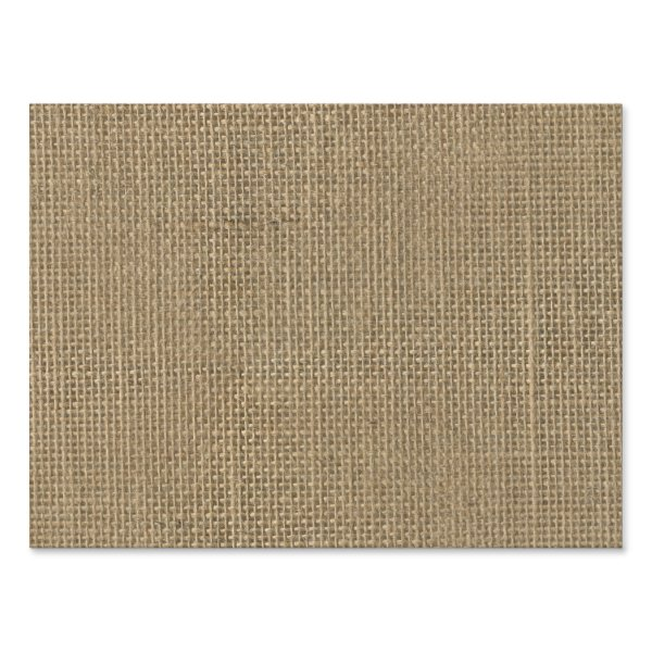 Natural Beige Tan Jute Burlap-Rustic Cabin Wedding Yard Sign