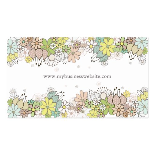 Natural Blossoms Elegant Custom Business Card