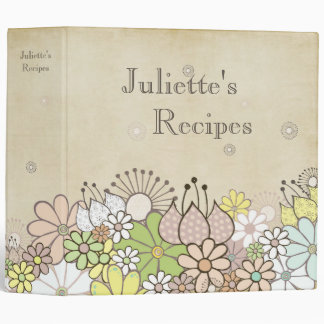 Natural Blossoms Personalized Recipe Book Binder