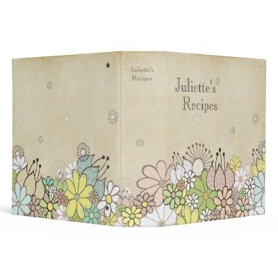 Natural Blossoms Recipe Book Binder