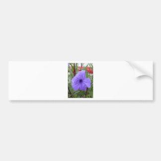 Natural Blue Beautiful Flower Bumper Sticker