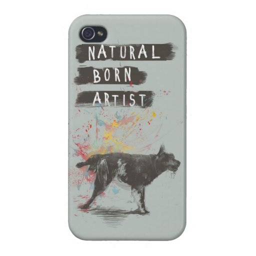 natural born artist iPhone 4 covers