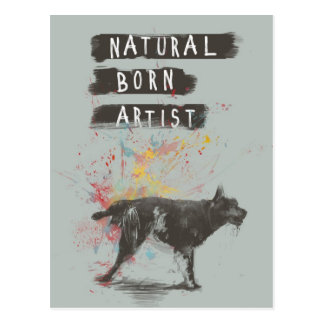 natural born artist postcard
