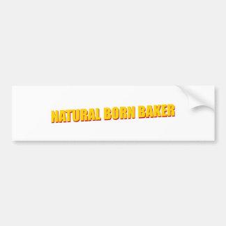 Natural Born Baker Bumper Sticker