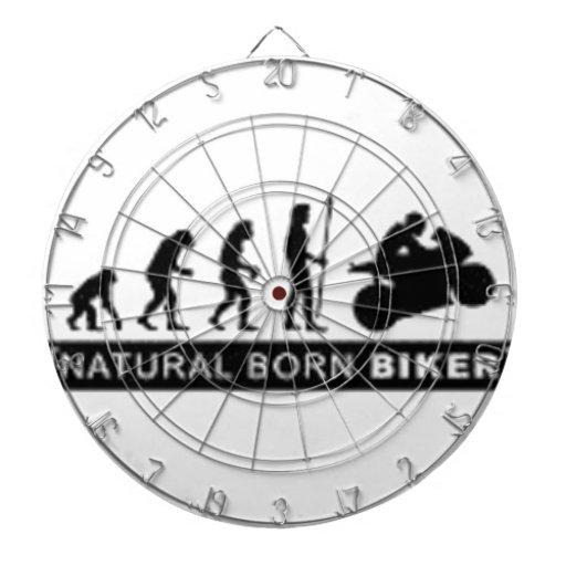 Natural born biker dartboard