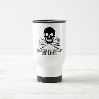 Natural Born Griller 15 Oz Stainless Steel Travel Mug