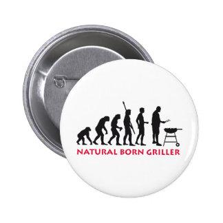 Natural Born Griller 2c Pin Redondo De 2 Pulgadas