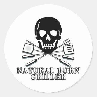 Natural Born Griller Classic Round Sticker
