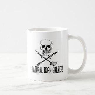Natural Born Griller Classic White Coffee Mug