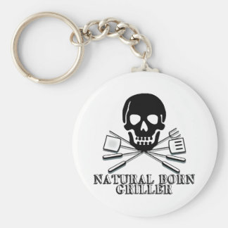 Natural Born Griller Keychain