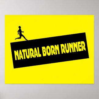Natural Born Runner - Funny Running Poster