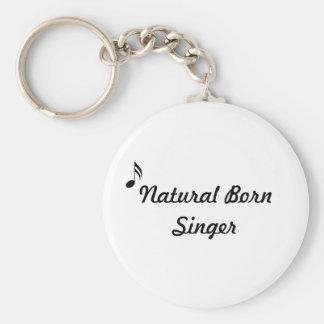 Natural Born Singer Keychain