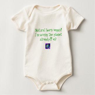 Natural born vegan! I'm saving the planet alrea... Baby Bodysuit